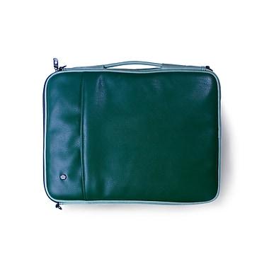 PKG – Étui/pochette « Stuff » de transport universel pour ordinateur portatif et tablette, similicuir de vache, 16 po, vert