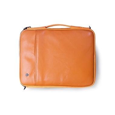 PKG – Étuis/housses de transport « Stuff » universels pour tablette et ordinateur portatif, en faux cuir de vache, 16 po