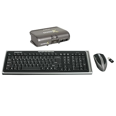 IOGEAR® 2-Port KVM Switch With Wireless Keyboard and Mouse Kit