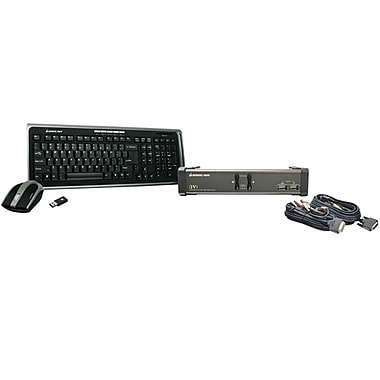 IOGEAR® 2-Port DVI KVM Switch With Cables and Wireless Keyboard/Mouse Combo
