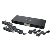 IOGEAR® 4-Port Dual-Link DVI KVM Switch With 7.1 Audio and Cables