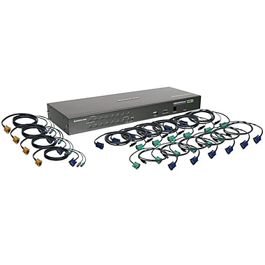 IOGEAR® 16-Port USB PS/2 Combo KVM Switch With Cables