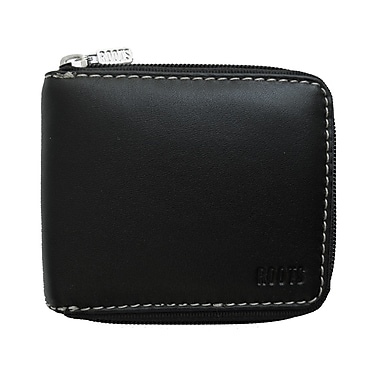 Roots Zip Around Coin Purse, Black