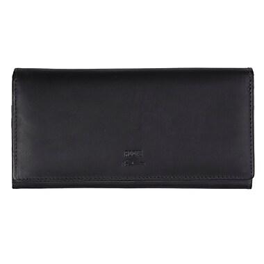 Roots Ladies Expander Clutch Wallet, Black
