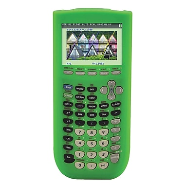 Guerrilla® Silicone Case For Texas Instruments TI 84 Plus Graphing Calculator, Green