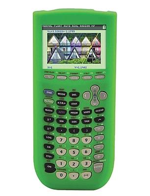 Guerrilla® Silicone Case For Texas Instruments TI 84 Plus C Silver Edition Calculator, Green