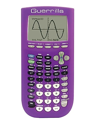 Guerrilla® Silicone Case For Texas Instruments TI 84 Plus Graphing Calculator, Purple