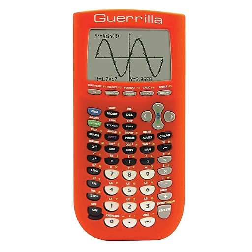 Guerrilla® Silicone Case For Texas Instruments TI 84 Plus Graphing  Calculator, Orange