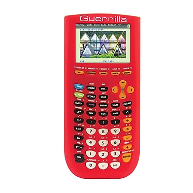 Guerrilla® Silicone Case For Texas Instruments TI 84 Plus C Silver Edition Graphing Calculator, Red