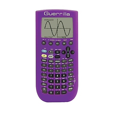Guerrilla® Silicone Case For Texas Instruments TI 89 Titanium Graphing Calculator, Purple