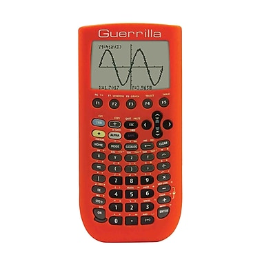 Guerrilla® Silicone Case For Texas Instruments TI 89 Titanium Graphing Calculator, Orange