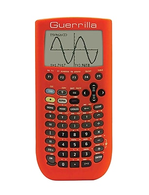 Guerrilla® Silicone Case For Texas Instruments TI 89 Titanium Graphing Calculator, Orange