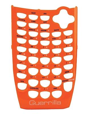 Guerrilla® Faceplate For Texas Instruments TI 84 Plus C Silver Edition Graphing Calculator, Orange