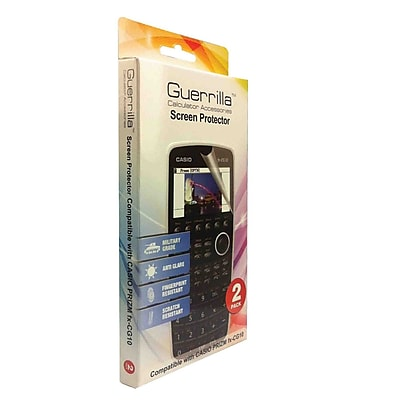 Guerrilla® Military Grade Screen Protector For Casio Prizm Graphing Calculator, 2/Pack