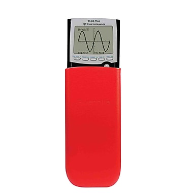 Guerrilla® Leather Slide Case For TI 84 Plus/C Silver Edition/TI 89 Titanium Calculator, Orange