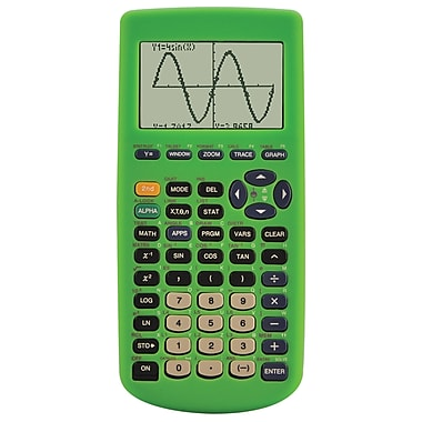 Guerrilla® Silicone Case For Texas Instruments TI 83 Plus Graphing Calculator, Green