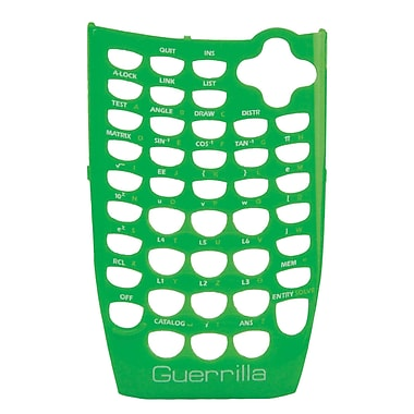Guerrilla® Faceplate For Texas Instruments TI 84 Plus C Silver Edition Graphing Calculator, Green