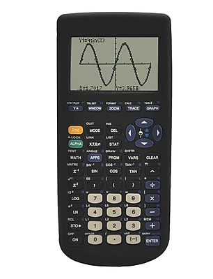 Guerrilla® Silicone Case For Texas Instruments TI 83 Plus Graphing Calculator, Black