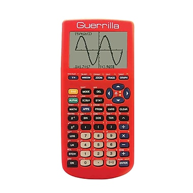 Guerrilla® Silicone Case For Texas Instruments TI 83 Plus Graphing Calculator, Red