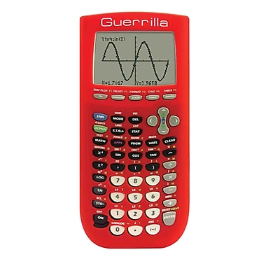 Guerrilla® Silicone Case For Texas Instruments TI 84 Plus Graphing Calculator, Red