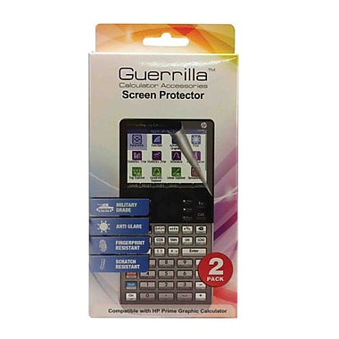 Guerrilla® Military Grade Screen Protector For HP Prime Graphing Calculator, 2/Pack