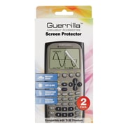 Guerrilla® Military Grade Screen Protector For TI 89 Titanium Graphing Calculator, 2/Pack