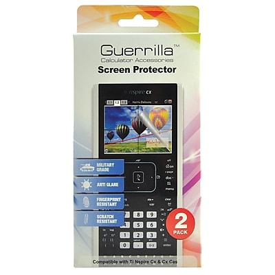 Guerrilla® Military Grade Screen Protector For TI Nspire CX/CX-CAS Graphing Calculator, 2/Pack