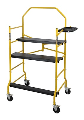 MetalTech Jobsite Series 6.375' H x 50.52'' W x 30.96'' D Steel Folding Scaffolding