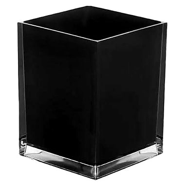 Gedy by Nameeks Rainbow 1.59 Gallon Waste Basket; Black