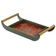 Modern Day Accents Painted / Embossed Tray w/ Handles