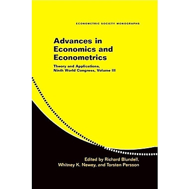 Advances in Economics and Econometrics: Theory and Applications, Ninth World Congress, Volume III