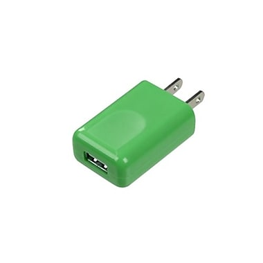 Insten® 1A Square USB Travel Charger, Green