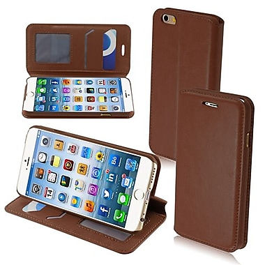 Insten® MyJacket Wallet For iPhone 6, Brown