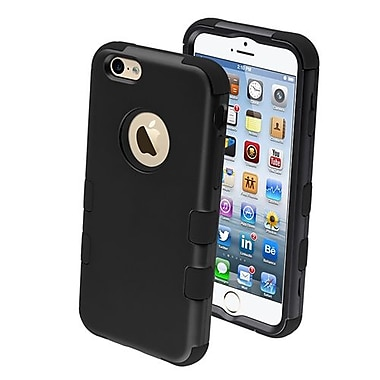 Insten® Hybrid Phone Protector Cover For iPhone 6, Rubberized Black/Black TUFF