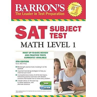 Barron's SAT Subject Test Math Level 1 , 5th Edition [With CDROM]