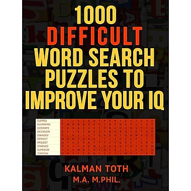 1000 Difficult Word Search Puzzles to Improve Your IQ