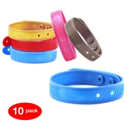 BuzzBarrier Mosquito Repellant Wristbands 10 Pack, Assorted Colors