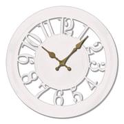 Ashton Sutton 11'' Quartz Analog Wall Clock; White