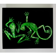 Radiant Art Studios X-ray Designs Lizard and Frog Graphic Art Plaque