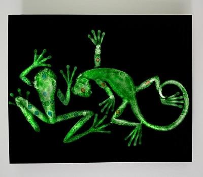 Radiant Art Studios X-ray Designs Lizard and Frog Graphic Art Plaque