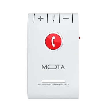 MOTA HD+ Bluetooth 4.0 Handsfree Car Kits, White