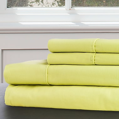 Lavish Home 100% Egyptian Cotton 300 Thread Count King Sheet Set, Green