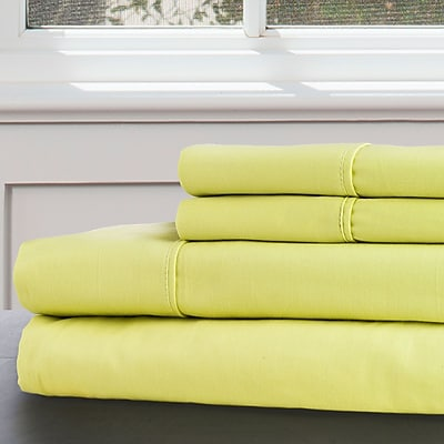Lavish Home 100% Egyptian Cotton 300 Thread Count King Sheet Set, Green