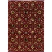 """StyleHaven Floral Red/ Brown Indoor Machine-made Polypropylene Area Rug (6'7"""" X 9'6"""")"""