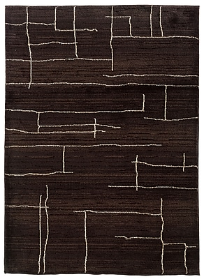 StyleHaven Tribal Brown/ Ivory Indoor Machine-made Polypropylene Area Rug (7'10