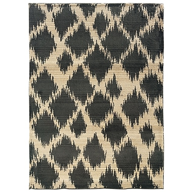 StyleHaven Tribal Ikat Ivory/ Brown Indoor Machine-made Polypropylene Area Rug (7'10