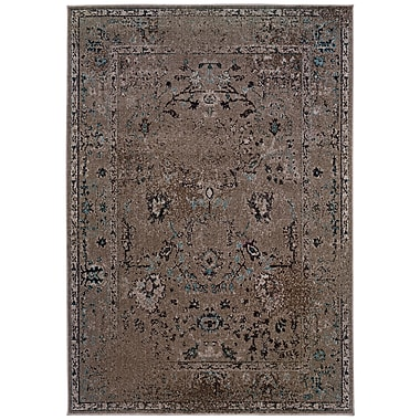 StyleHaven Overdyed Oriental Grey/ Black Indoor Machine-made Polypropylene Area Rug (5'3