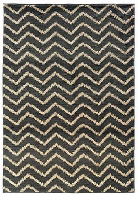 StyleHaven Tribal Chevron Grey/ Ivory Indoor Machine-made Polypropylene Area Rug (6'7