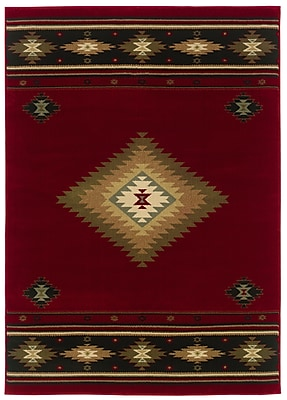 StyleHaven Southwest/Lodge Red/ Green Indoor Machine-made Polypropylene Area Rug (3'10