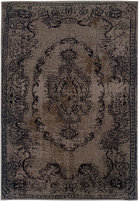 StyleHaven - Overdyed Oriental Grey/ Black Indoor Machine-Made Polypropylene Area Rug (5'3